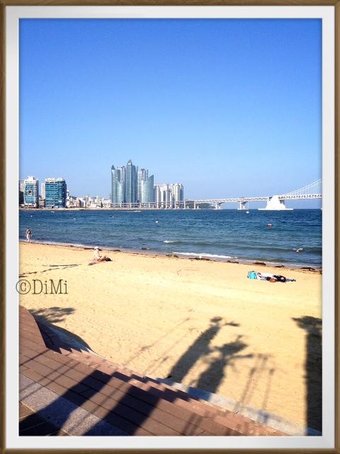 Haeundae beach Busan, June, 2013.