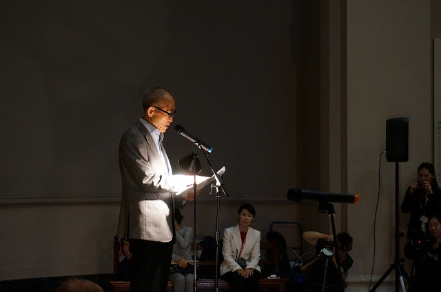 Poet Ko Un, Image courtesy of Korean Cultural Centre UK