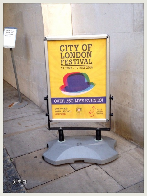 Poster of City of London Festival outside Stationer's Hall