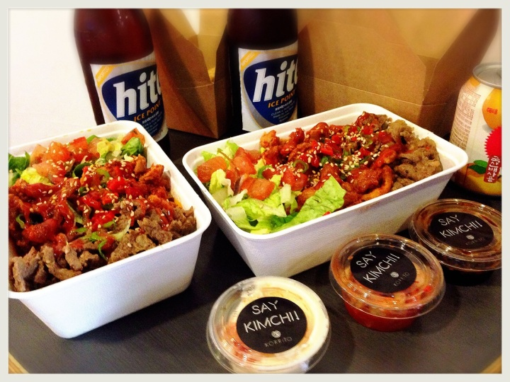 Korrito Rice Box Option with all meats & Hite Beer