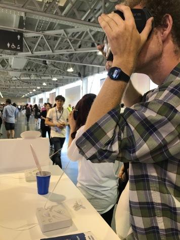 Experiencing Korea using virtual reality goggles